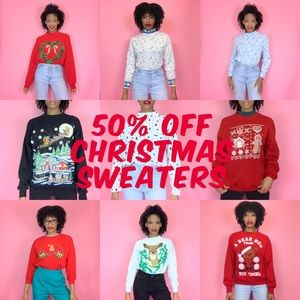 Take 50% off All Christmas Sweaters!